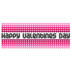 Mod valentines day graphic typography and hearts vector