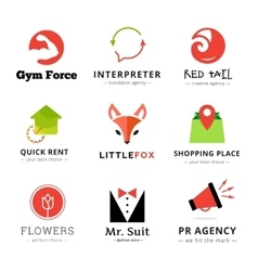 Set of bright modern logos vector image vector image