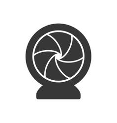 Shutter silhouette icon camera design vector