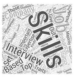 Skills emphasis job interview dlvy nicheblowercom vector