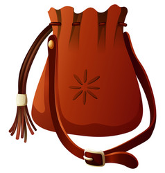 Small bag in brown color vector