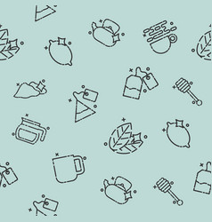 tea concept icons pattern vector image vector image