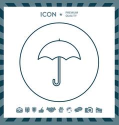 Umbrella line icon vector