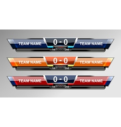 Scoreboard sport elements design vector