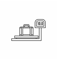 Luggage weighing icon in outline style vector