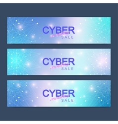 Cyber monday sale banner design graphic abstract vector