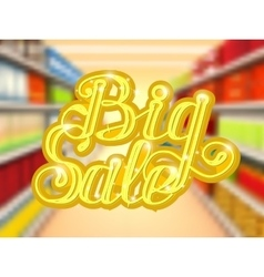 Big sale in supermarket concept of e-shopping vector