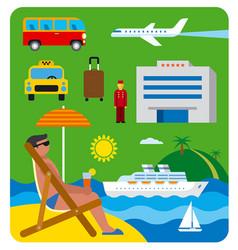 Sea resort journey vector