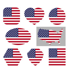 usa national flag icons vector image