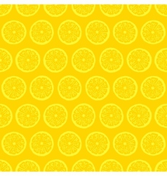 Retro seamless pattern with lemons vector