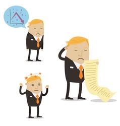 Falling Sales Businessman vector image