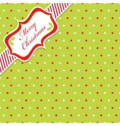 Christmas polka dot vector image