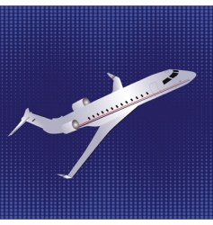 template with airplane vector image