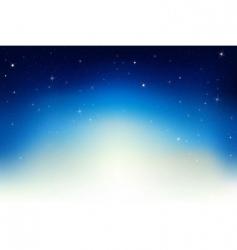 night sky scene vector image