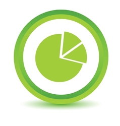 Green circle chart icon vector
