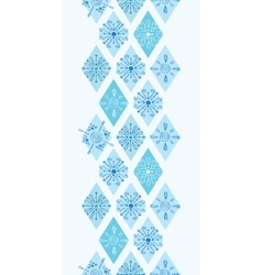Abstract blue doodle rhombus vertical vector
