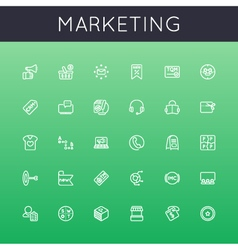 Marketing line icons vector