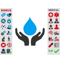 Blood donation icon vector