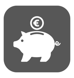 The moneybox and euro icon cash and money wealth vector