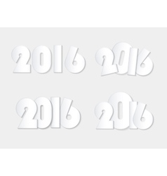 Light white style 2016 new year combinations vector