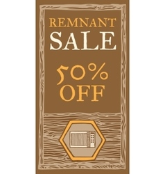 Remnant sale flyer vector