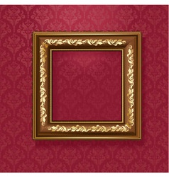 Golden picture frame vector