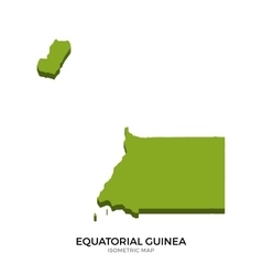 Isometric map of equatorial guinea detailed vector