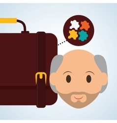 Management design person icon isolated vector