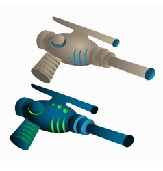 Two childrens toys laser gun vector