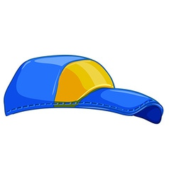 A blue cap vector