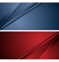 Abstract blue and red soft lines banners vector