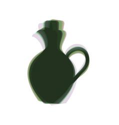 Amphora sign colorful icon vector