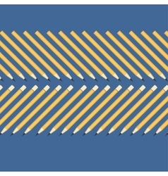Background of the simple yellow pencils on a blue vector
