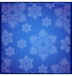 Beautiful snowflakes on a blue background vector image vector image