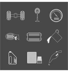 Car Parts icon set 2 vector image