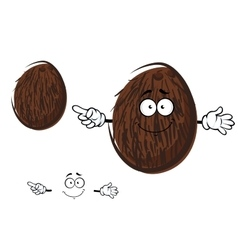 Cartoon cheerful coconut fruit character vector