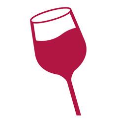 Color wine glass cup liquid beberage vector