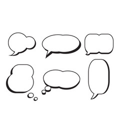 Comic text speech bubble star set dialog empty vector