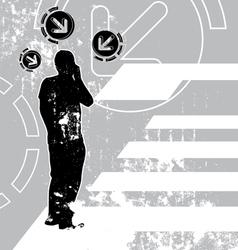 communication grunge background vector image
