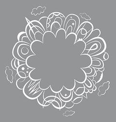 Fantasy round design vector