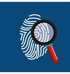 Finger print search secure data vector