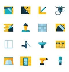Home repair icons flat vector