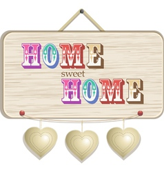 Home sign vector image