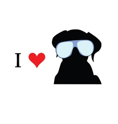 i love dog vector image