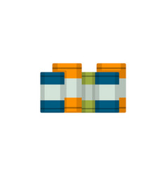 metal barrels isolated icon in flat style vector image vector image