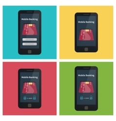 Mobile banking online payments vector image