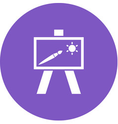 Painting of canvass vector