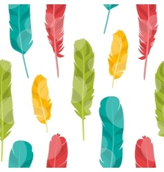 Pattern with colored feathers vector image vector image