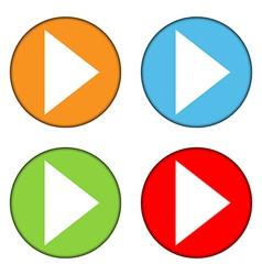 Play sign button set vector