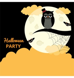 Poster for the Halloween party vector image